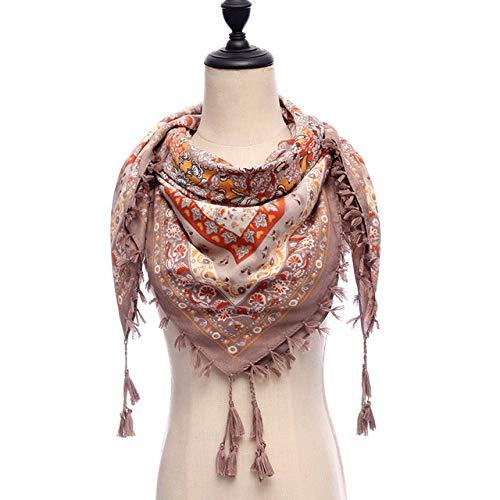 WNFDH sjaal 2019 nieuw merk vrouwen sjaal ruimte katoen sjaal wikkelt dames kwasten Bohemen Foulard winter vrouwelijk