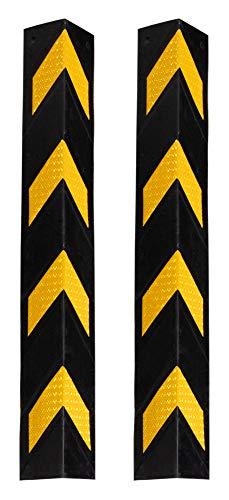 Preisvergleich Produktbild Kirstein 2er Set Stagecaptain KS-8010 Kantenschutz - Eckenschutz aus flexiblem Gummi - Länge: 78 cm - Mit Reflektoren - Schwarz / gelb