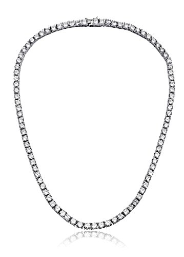 NYC Sterling Women 4MM Round Prong Cubic Zirconia Tennis Necklace (18.00)