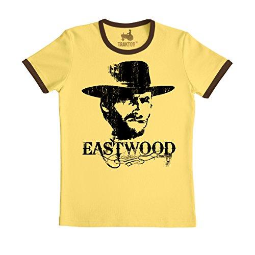TRAKTOR T-Shirt Eastwood - Cowboy - Film Rundhals T-Shirt - gelb - Original Marke, Größe S