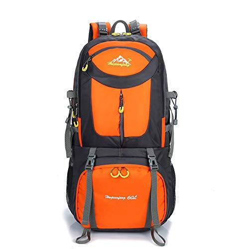 QXbecky Sac d'alpinisme sac de randonnée grande capacité sports de plein air sac à dos orange 40L 30x50x18cm