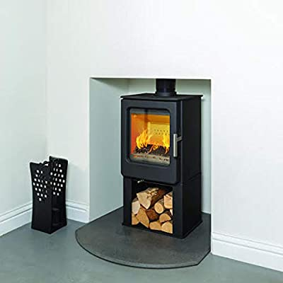Mendip Wood Burning Stove Glass Window 4.7kW Fire Eco & Defra with Log Store