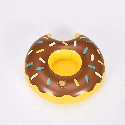 Opblaasbare drankenhouder voor in het zwembad | drank zwembandje | chocolade donut