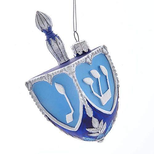 Kurt S. Adler 4.25-Inch Noble Gems Glass Dreidel Ornament, Multi