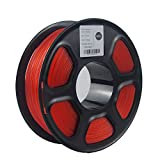 TOPZEAL ABS Transparent Series Color 3D Printer Filament 1.75mm, Dimensional Accuracy +/- 0.02mm, 1KG Spool for 3D Printer and 3D Pen (Transparent Red)