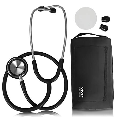 Vive Precision Dualhead Stethoscope - Dual Head Diaphragm Bell for Nurses, ER, Cardiology,...