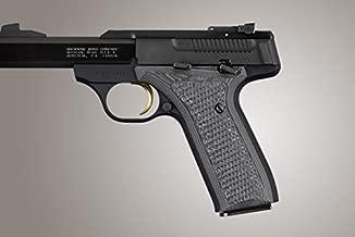 Hogue Browning Buckmark URX Piranha G10 Gun Grips, Damascus Black/Grey