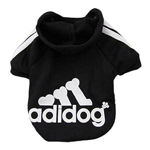 Idepet Vêtement pour animaux chiens chats Printemps Automne Sweat à capuche en coton doux Adidog Vêtement 7couleurs Petite taille S/M/L/XL/XXL pour chiens