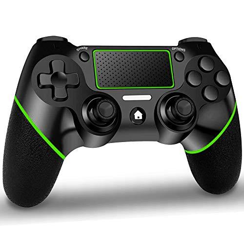 GEEMEE Mando inalámbric para PS4, Wireless Bluetooth Controlador Joystick Gamepad con Vibración Dual/Turbo/Puerto de Audio/Pantalla LED, inalámbric Mando para Play-station-4/Pro/Slim/PC