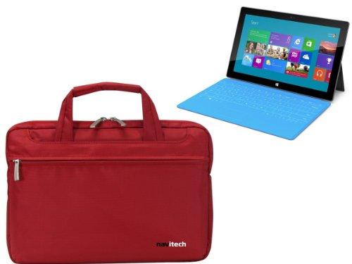 Navitech rubin rote premium Wasser wiederständige Shock sichere Ultrabook/Laptop/Tablet trage Tasche/Case speziell für das Microsoft Surface Tab Windows RT & Windows 8 Pro