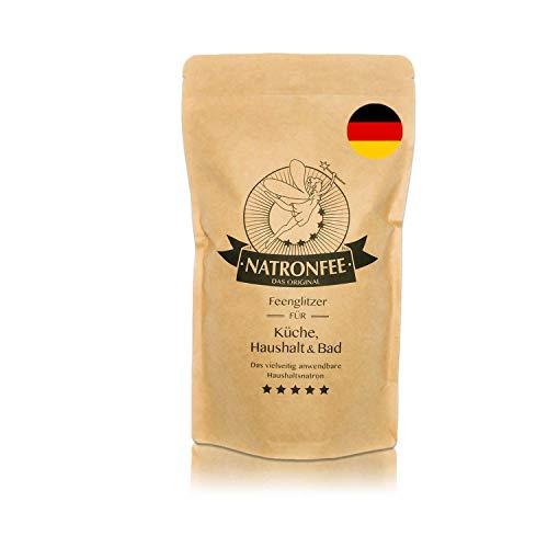 Natron Backpulver bzw. Baking Soda – Extra feines Natron-Pulver zum Backen und Kochen – Natriumhydrogencarbonat E500 (ii), 1000g. In Deutschland hergestellt.