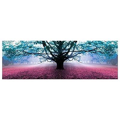 Sus medidas son: Ancho: 150 cm. Alto: 50 cm. Fondo: 3 cm. Cuadro de Árbol de la Vida romántico azul de lienzo para dormitorio. Si quieres dar a la decoración de tu dormitorio un aire fresco, lozano, nuevo y actual, siguiendo las últimas tendencias de...