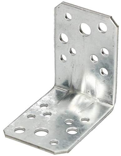 KOTARBAU® Ángulo de unión 65 x 65 x 45 mm con ranura, ángulo de agujero, ángulo de construcción, conector de madera, ángulo de viga, conector de alta calidad, color plateado galvanizado