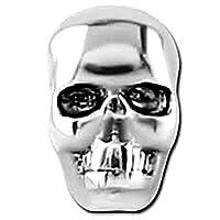 ボディピアス パーツ 14ゲージ用 スカル ボディピアス ネジ式 キャッチ 14G ボール 交換 キャッチ ステンレス シルバー 部品 骸骨 ドクロ ハロウィン シンプル