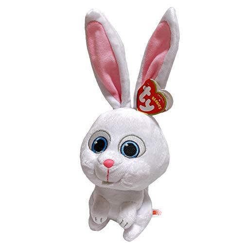 PETS ペット Ty Beanie Babies Mサイズ ぬいぐるみ (スノーボール) マスコット プラッシュ 人形 子供 キッズ 映画 キャラクター 動物 うさぎ グッズ ビーニーズ ビーニーベイビーズ
