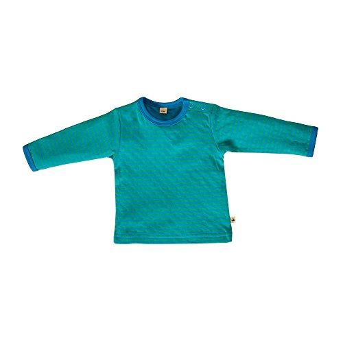 Leela Cotton bébé/enfants à manches longues en coton Bio dans nordique bleu/Irlandais de rayures vert - Multicolore -