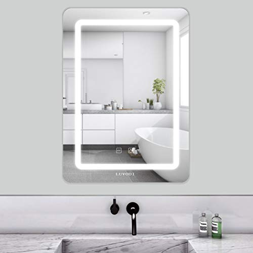 LUVODI 50 x 70cm Espejo Baño Pared Luz LED Función