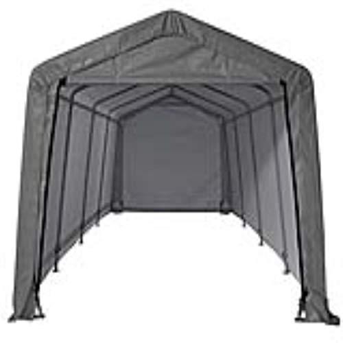 ShelterLogic Foliengarage Garage in-a-Box, 18,3m² grau // 300x610 cm (BxT) // Foliengarage, Garage und Foliengerätehaus