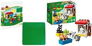レゴ(LEGO) デュプロ ぼくじょうのどうぶつたち 10870 & デュプロ 基礎板(緑) 2304