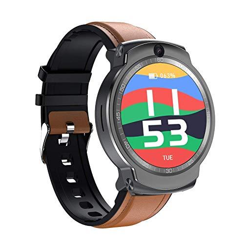 ZHENAO Smart Watch Android 4G Teléfono de 360 Grados Rotación de Doble Cámara Wifi Card Bluetooth Gps Posicionamiento Exquisito/Marrón