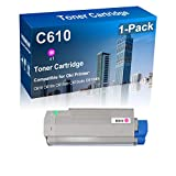 Included: 1-Pack Magenta compatible C610 44315302 toner cartridge Estimated Page Yield: 6,000 Pages per Color toner cartridge, Resists fading, smudging, and bleeding Compatible For: Oki Data C610 C610n C610dn C610cdn C610dtn Series Printers Print tru...