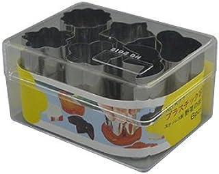タイガークラウン 野菜抜き型 シルバー 27×39mm Pケース入 野菜抜型 6P 小 松 竹 梅 桔梗 菊 桜 527 6個入