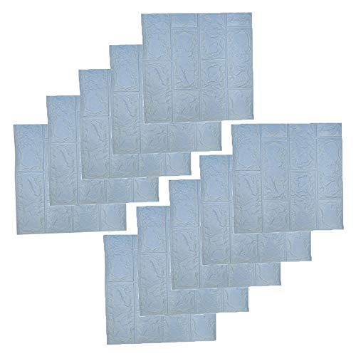 RHG 5 piezas / 10 piezas DIY 3D papel de pared adhesivo de espuma suave para pared de ladrillo de piedra, revestimiento de espuma ecológica, autoadhesivo, para decoración del hogar (Tamaño: 11,4 x 11,4 pulgadas)