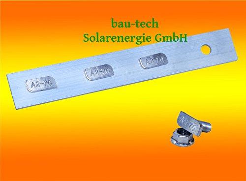4 Stück Profil Verbinder ALU inkl. Hammerkopfschrauben für Solar Photovoltaik PV Montage von bau-tech Solarenergie GmbH