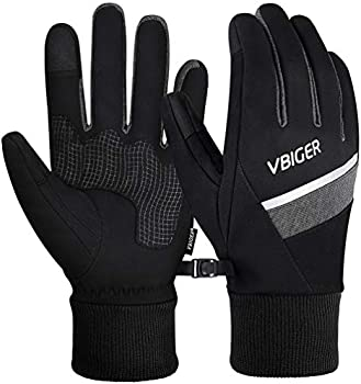 Vbiger 3M Winter Cycling Sports Gloves with Reflective Strips