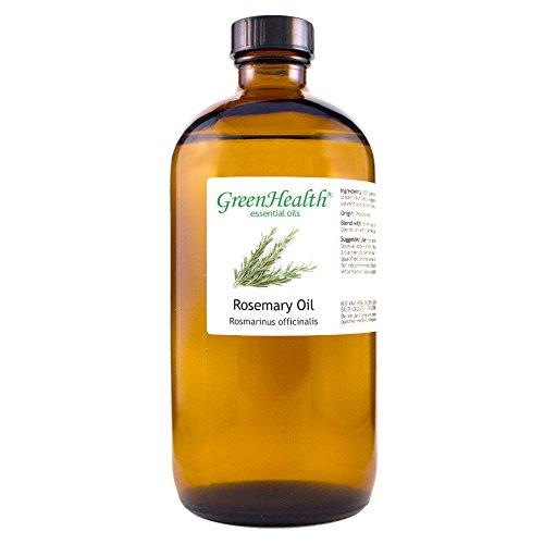 GreenHealth Rosemary – 100% Pure Essential Oil 16 fl oz (473 ml) Glass Bottle