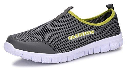 [マナンティアール] メンズ スニーカー シューズ 靴 くつ 靴シューズ レースアップ カジュアル ストレッチ ウォーキング アウトドア アクティブ ストリートシューズ 人気 おしゃれ 柄 紐 amazon スリッポン デッキシューズ 軽量 メッシュ グレ