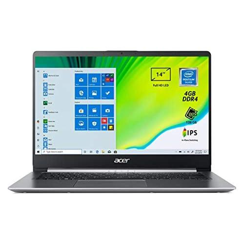 Acer Swift 1 SF114-32-P56T Pc Portatile, Notebook con Processore Intel Pentium Silver N5000, Ram 4 GB DDR4, 128 GB SSD, Display 14