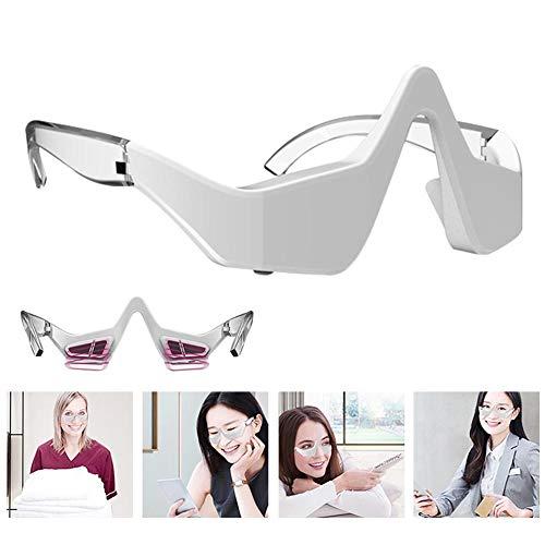 Hedear Masajeador de ojos con protección eléctrica para los ojos, micro corriente, dispositivo para la belleza de los ojos para quitar bolsas y ojeras bajo los ojos con 3 ajustes de intensidad para