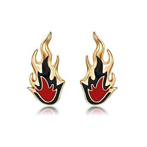 SimpleLife Los Pendientes de Las Mujeres, joyería de la Boda de la aleación de los encantos del Manguito del oído de la Llama del Fuego Creativo