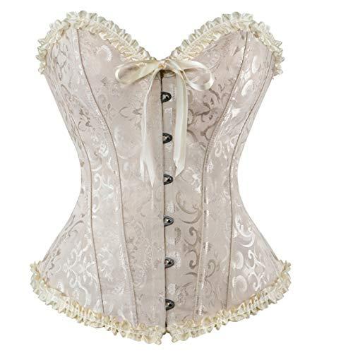 Enheng-SSY donne sexy corsetti e bustier bianco nero verde nero stampa corsetto overbust plus size lingerie corselet