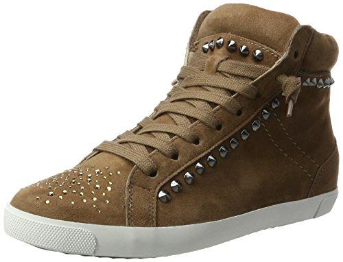 Kennel und Schmenger Schuhmanufaktur Damen Queens-Sneaker-Stones High-Top, Braun (Cuir Sohle Weiss), 38.5 EU (Herstellergröße: 5.5 UK)