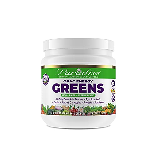 Paradise ORAC Energy Greens | Organic Alkalizing Grass Juice Powder...