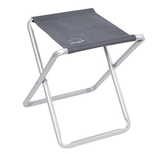 Hummelladen Aluminium Hocker mit Stoffsitz 40x46cm, belastbar bis zu 80kg: Camping Stuhl Klapphocker Campinghocker faltbar Faltstuhl, Hocker, Anglerhocker, Hocker aus Aluminium Angenehmer Sitzbezug