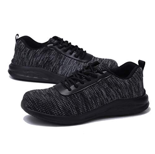 AZLLY industriële schoenen met stalen neus voor heren, lichte en ademende werkschoenen, antislip, voor jungle, wandelen in de open lucht