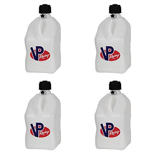 VP Racing Fuels Motorsport 5 Gallon Square Plastic Utility Jug White (4 Pack)