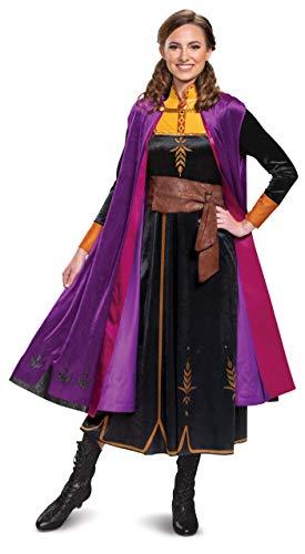 Disguise Damen Disney Anna Frozen 2 Deluxe Adult Costume Kostüme für Erwachsene, schwarz, X-Large
