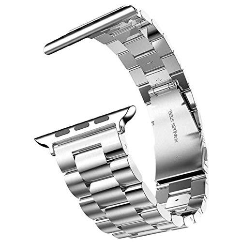Bandas de reloj de pulsera para Apple Watch Series 4 5 Pulsera Pulsera de acero inoxidable de negocios para Iwatch 3 Correa