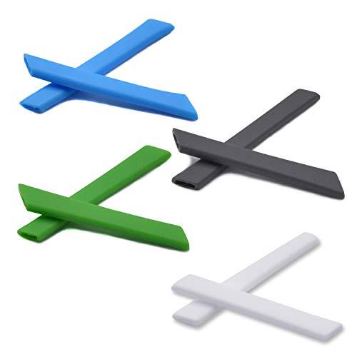 SOODASE Blau/Grau/Grün/Weiß Ersatz Silikon Rahmenbein Gummi-Kit Für Oakley Jawbone Sonnenbrille