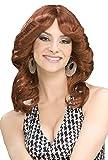 Forum Novelties Women's 70's Disco Doll Costume Wig, Auburn, One Size