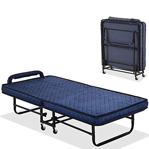 QiHaoHeji Cama Plegable portátil Cama Plegable con colchón Ajustable Diseño Fácil Espacio de Almacenamiento Adicional de Ahorro de Cama supletoria invitado for Cubierta Oficina Balcón Patio Jardín