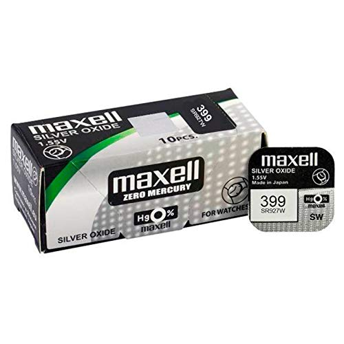Maxell SR0927W MXL - Pila Botón 1,5V Pack 10 (Ecotasa En Precio...