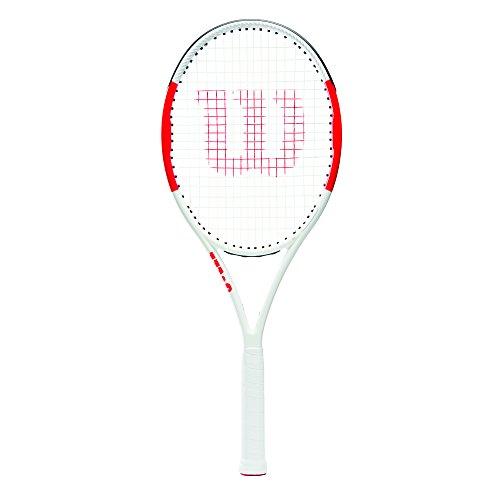 Wilson Raqueta de Tenis, Six.One Lite 102, Jugadores intermedios, Rojo/Gris, Tamaño de empuñadura L2, Unisex Adulto