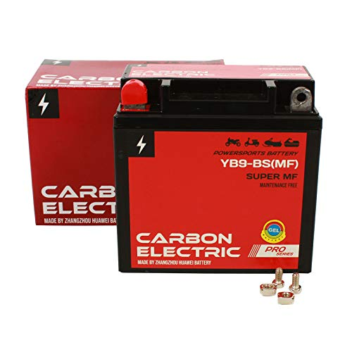 Carbon Electric Gel Batterie YB9-BS Motorradbatterie 12V 9Ah Motorrad Roller Rollerbatterie