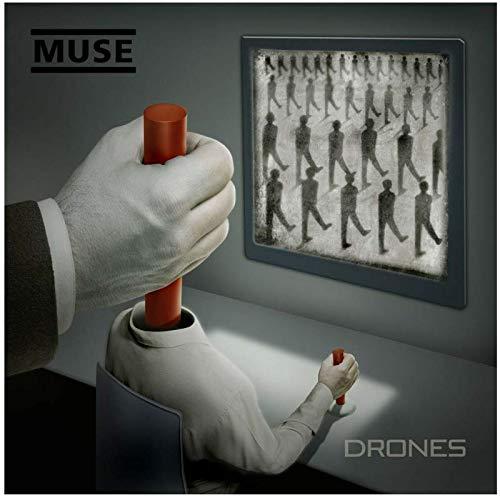 NRRTBWDHL Muse Albums Cover Poster Simulationstheorie Das 2. Gesetz Drohnen Dekor Wandbild Dekoration Raum Wanddekoration -50x50cm Kein Rahmen