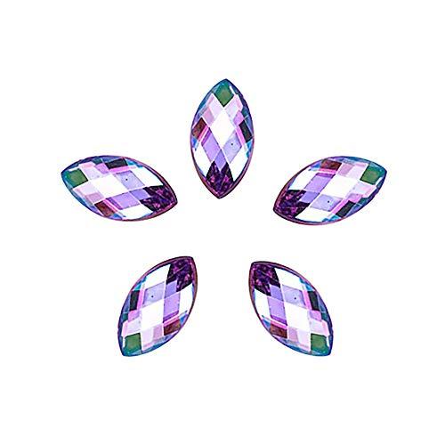Youdong 500pcs Strass Oeil de Cheval de Paillettes 3D Colle Acrylique décorative d'art de Clou Nail Art Magnetic Sticks Dual-Ended Flower Strip Pattern for UV Gel Manicure Nail Art Tool